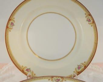 Vintage Wedding Dinner Plates Meito China Set of 4  Pink Rose Shabby Cottage Chic Rose Vintage Bridal Shower
