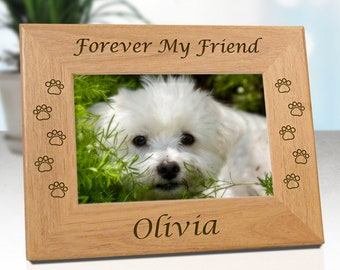 Personalized Pet Memorial Frame - Forever My Friend ..or.. Forever Our Friend