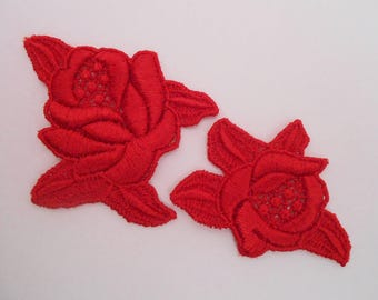 Red Roses lace for your creations
