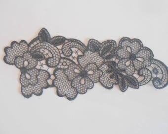 Dark gray 16.5 x 7 cm fine lace Wall lamp