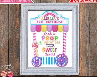 Candy Shoppe Theme Grab a Prop Sign