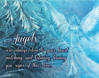 Angel Canvas Print - available in blue, pink or lilac