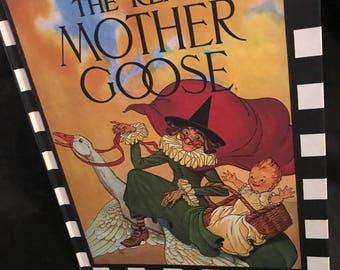 "Vintage Children's Book Mother Goose Nursery Rhymes ""The Real Mother Goose"" Classic Nursery Rhymes SALE PRICE was 20. now 14.00"