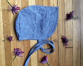 Blue Cap Chambray linen+cotton || Babes, Tots, and Little Girls || sun hat