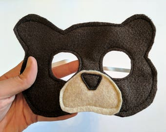 Felt Brown Bear Mask for Kids