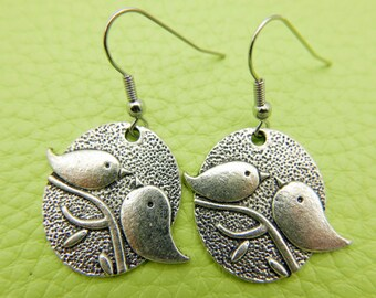 Birds Earrings stainless steel