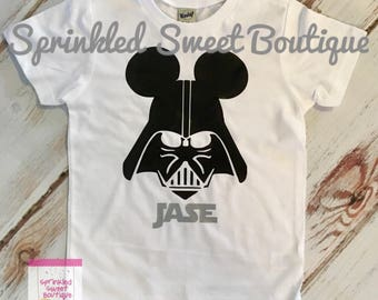 Darth Vader Mickey Villain Star Wars Inspired Shirt Women Men Kid Baby Family Perfect for Disney World Matching Family Trip Boys
