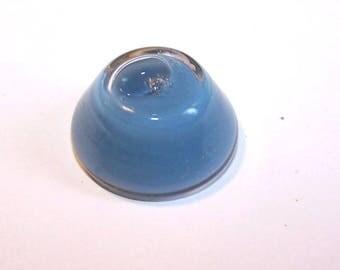 A globe 20 mm light grey opaque liquid filled glass CONE