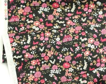 Lecien Memoire a Paris Cotton Lawn 2017 Fabric -  40742L-100 - 1/2 Yard and Felt Backed