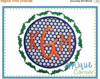 50% Off INSTANT DOWNLOAD 1762 Gator Filled Border Patch applique digital design for embroidery machine by Applique Corner