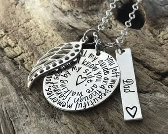 Loss of a mom   Sympathy necklace   Loss of a Mother   Remembrance Jewelry   Memorial Jewelry   Grieving loss of mother   Grandma memorial