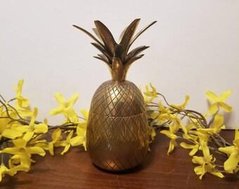Brass Pineapple Box - 6.75