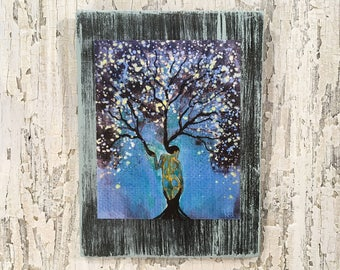 Nature Of Peace Tree Wall Art by artist Rafi Perez Original Artist Enhanced Print On Wood