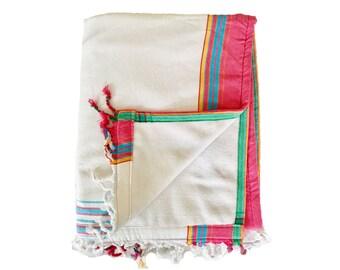 Kikoy Towel White with White backing