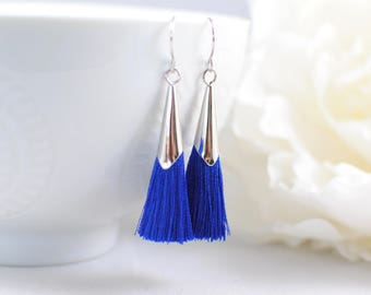 The Delia Earrings - Royal