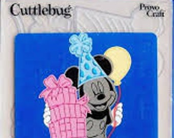 MICKEY MOUSE CELEBRATIONs - Cuttlebug Dies  CuT and EmBOSS - Set - Disney -Party