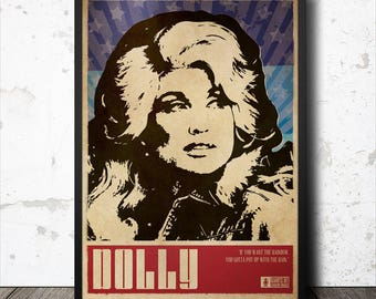 Dolly Parton Country Music Poster