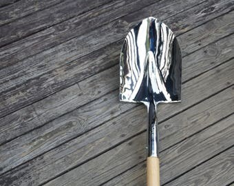 Ceremonial Shovel Mirror Finish Chrome Plated -Groundbreaking Ceremonies, Retirement Gifts & Wedding Ceremonies