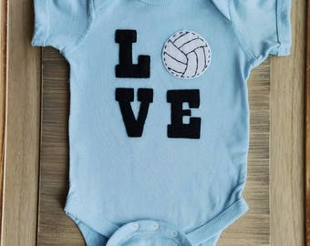 LOVE volleyball baby, love baseball baby, love basketball baby, love soccer baby