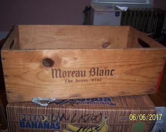 1950's Frederick Wildman New York City Moreau Blanc Wine Crate Wooden Box