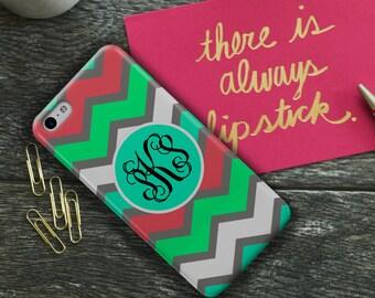 Chevron iPhone 6 case, Monogram iPhone 5c case, Protective iphone 5s case, Cute Iphone 6s case, Pretty Iphone 5 case girls, Aqua blue (9984)