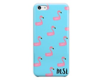 Flamingo phone case, Blue pink, Tropical Cute gift For Her, Fits iPhone 4/4s 5/5s 6/6s 7 8 5c SE X and Plus (1785)