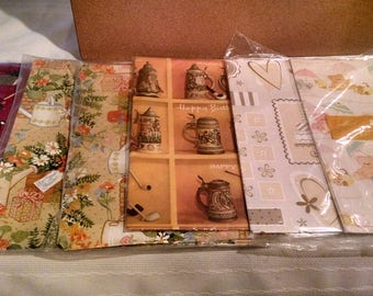 Vintage gift wrap variety pack / occasions. Hallmark, Galaxy, American Greetings - lovely ! Free ship