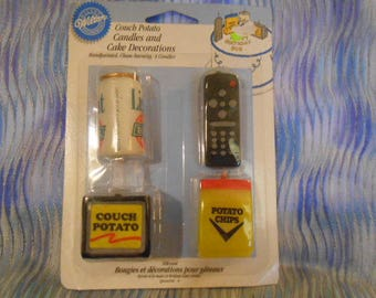 Wilton Couch Potato Candles and Cake Decorations-Sealed
