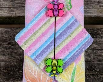 Kleenex Cover, Travel Tissue Holder, Pocket Tissue Cover, Butterflies