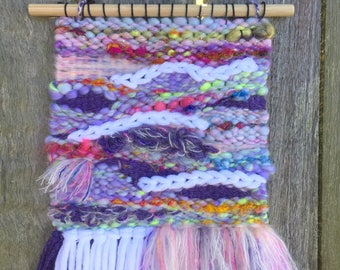 Handwoven wall hanging - Lilac Cloud Dreams