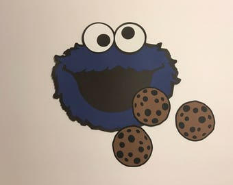 Pin the Cookie on Cookie Monster Game