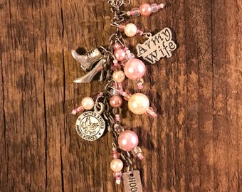 Army Wife Necklace - Pink