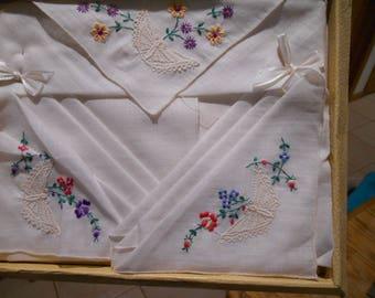 Vintage unused Handkerchief Gift Box.  Original packaging