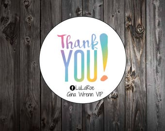 LuLaRoe Labels -  Thank You Mailing Labels - Personalized