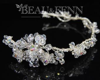 Beautiful bridesmaid or bride headdress headband rhinestone tiara