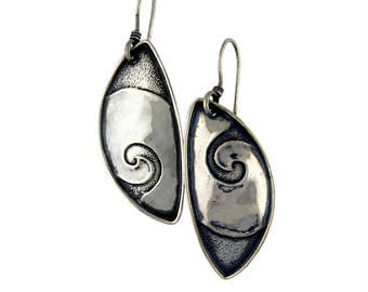Swirls Sterling Silver Tabra Earrings