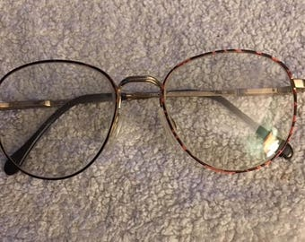 Luxottica Men's eyeglasses 125 gold metal frames made Italy..FREE shipping !!!