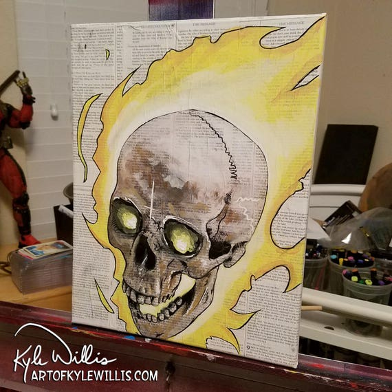 Ghost Rider Original Acrylic Painting