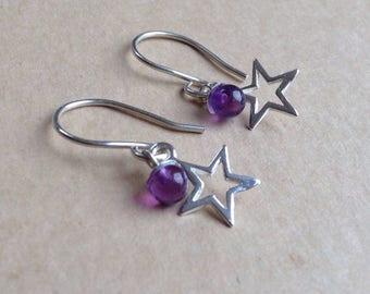 Star dangle Earrings, Star Earrings, Dangle Earrings, Drop earrings