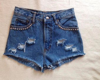 High waisted shorts jeans