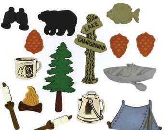 25% OFF SALE Camping Buttons