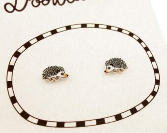Hedgehog Earrings, Hedgehog Jewelry, Tiny Earrings, Hedgehog Jewellery, Woodland Animal Earrings, Woodland Animal Jewelry, Shrink Plastic