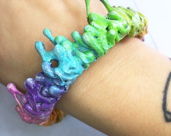 Rainbow slime cuff