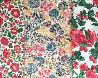"""10"""" x 13"""" pieces - Pack of 3 - Liberty London Tana Lawn"""