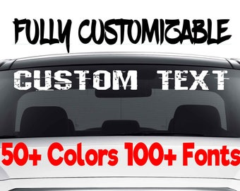 Custom Car Decals Etsy - Window decals custom vehicle
