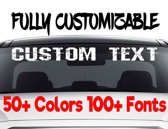 Custom Windshield Decals Word And Number Car Truck Window - Car windshield decals custom