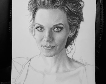 Original Sketch of Hillarie Burton (NOT a print)