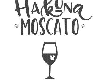 Hakuna Moscato, food and wine,  SVG file