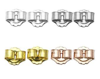 925 Sterling Silver Earring Backs,Silver Ear Post Earring Stopper,3.5x3.5x2.5mm ,SKU25338