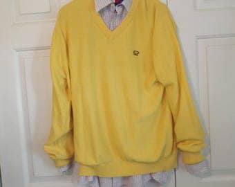 Men's Vintage Sweater Yellow by Jack Nicklaus The Bear